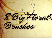8 Paquete de cepillo floral