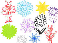 Handtype Flower Brush Pack