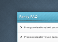 Élément web psd fancy faq