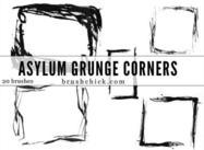 Asylum Grunge Corner Brush Pack