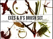 Exes & O's Brush Pack