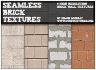 Texturas de tijolos modernas sem costura