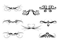 Symmetrical Decorative Ornament Brush Pack