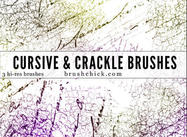 Cursive och Crack Brush Pack