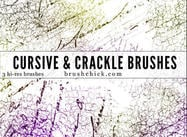 Cursive und Crack Brush Pack