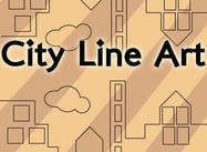 Line Art City Pattern