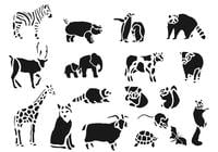 Zoo Tiere Brush Pack