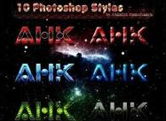 10 abstrakte Photoshop Styles