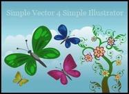 Vector simple de 4 Illustrator sencillo