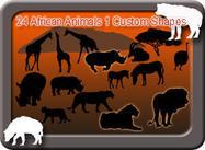 24 afrikanska djurformer