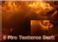 4 Feuer Texturen dunkel