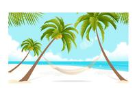 Beach-and-palm-trees-wallpaper-photoshop-psds