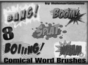 Comical-word-brushes