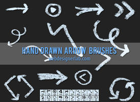 Grungy-hand-drawn-arrow-brushes