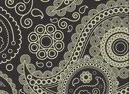 Charcoal Paisley Pattern - bote jeghe(num4)