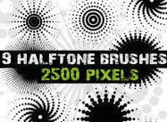 Halftone Dots Pinsel für Photoshop