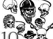 Skull Brush Pack 2