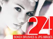 24 Escovas Bokeh abstratas