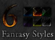 6 estilos de la piedra de la fantasía