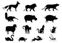 Silhouettes de animais Brush Pack Two