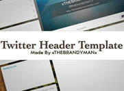 Twitter header template psd!