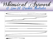 12 Fine Lineart Pensels voor Illustrator