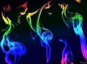 Texture de fumée arc-en-ciel