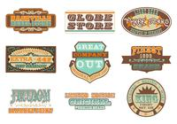 Retro Advertising Brushes Pack