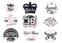 Girly T-shirt Brushes Designs
