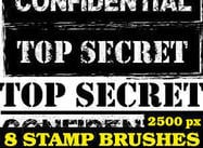 Confidential Stamp Pinceles para Photoshop