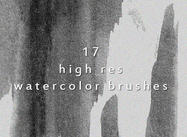 17 Creative High Resolution Watercolor Brushes