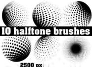 Halftone-brush-pack