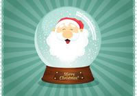 Santa Snow Globe Wallpaper PSD