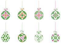 Dekorative Weihnachtsball Ornament Pinsel Pack