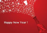 Red Champagne New Year Wallpaper