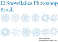 Free snowflakes photoshop brush