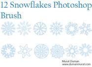 Free snowflakes photoshop brush