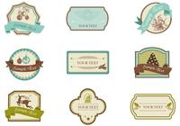 Vintage Christmas Tag and Label Brush Pack