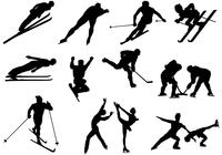Skiing and Skating Silhouette Brush Pack