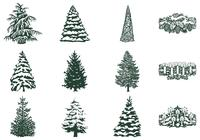 Winter Tree Brush and Candle Brush Pack