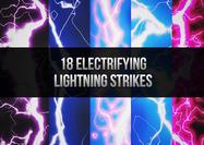18 Golpes electrizantes del cepillo del relámpago