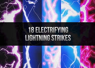 18 Elektrifierande blixtborstar strejkar