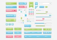 Sweet and Colorful UI PSD Kit