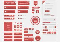 Red-retro-ui-psd-kit-photoshop-ui-kits