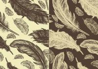 Seamless-hand-drawn-feather-pattern-pack-photoshop-patterns
