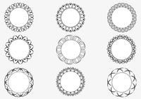 Decorative Circular Frames Brush Pack