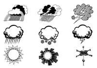 Hand Drawn Weather Brush Symbol Pack