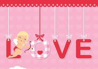 Amor Valentinstag Hintergrund