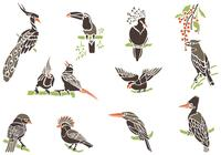 Exotic-bird-brushes-on-branches-pack