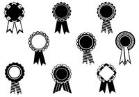 Black and White Award Ribbon Brush Pack